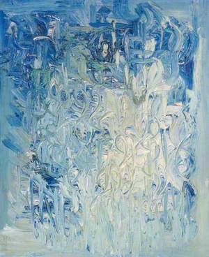 Blue and Cream Abstract