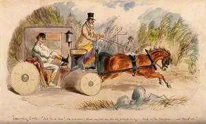 A Doctor Changing into Hunting Clothes in His Carriage, on His Way to a Hunt Meeting