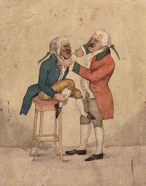 A Tooth-Drawer Extracting a Tooth from a Patient Who Is Seated on a Stool