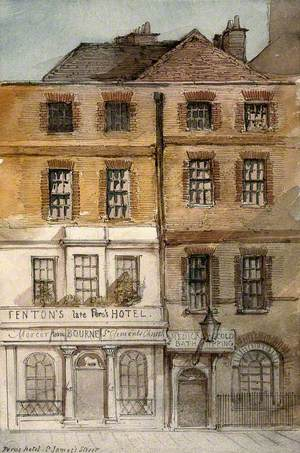 The Medical Cold Baths, and Fenton's Hotel, St James's Street, London