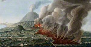 Mount Vesuvius: A Volcanic Eruption at the Foot of the Mountain, 1760–1761, Causing the Destruction of the Land and Property