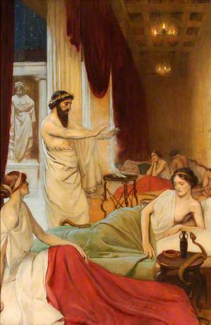 Patients Sleeping in the Temple of Aesculapius at Epidaurus