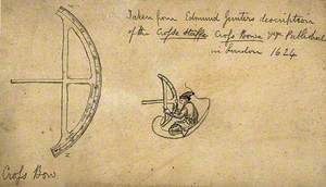 Navigation: A Cross Staff or Crossbow, and a Sailor Using the Device