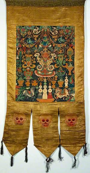 Attributes of rDo-rje Kon-btsun De-mo in a 'Rgyan Tshogs' Banner