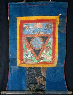 Blue Lotus Protective Triangle