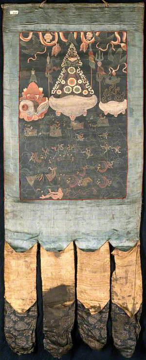 Attributes of Bhairava in a 'Rgyan Tshogs' Banner