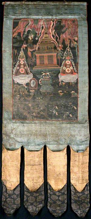 Attributes of Yama in a 'Rgyan Tshogs' Banner