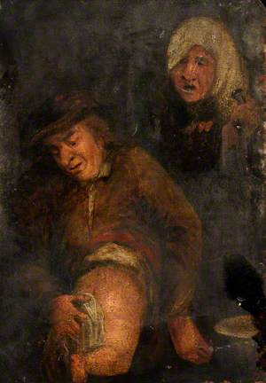 The Sense of Smell: A Man Wiping a Baby's Bottom