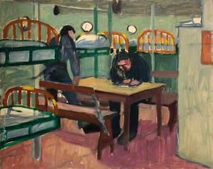 First World War: Two Sailors in a Dormitory below Decks