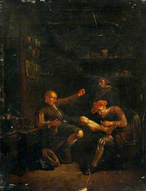 A Surgeon Treating a Man's Foot