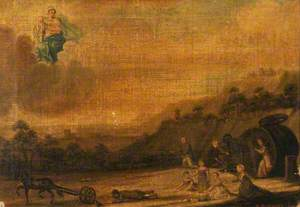 Votive Picture: People Thrown from a Carriage Pray to the Virgin and Child