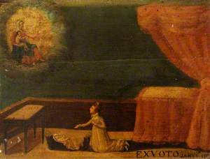 Votive Picture: A Woman Praying to the Virgin and Child for a Sick Child