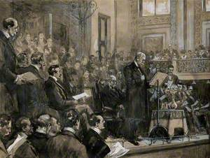 Robert Koch Reading His Address to a Conference at St James's Hall, Piccadilly