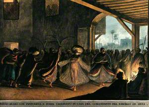A Dance by Sword Dancers in the Commandant's House, Giza, Egypt