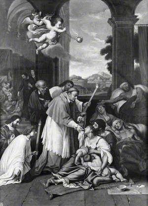Saint Carlo Borromeo Ministering to the Plague Victims