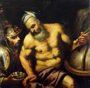 Aristotle Refusing the Hemlock (?)