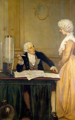 Lavoisier Explaining to His Wife the Result of His Experiments on Air