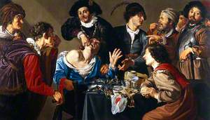 A Troupe of Travelling Performers, including a Toothdrawer