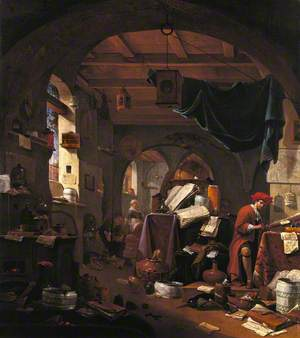Interior with an Alchemist