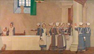 Orphan Girls in the Refectory of a Hospital, Proceeding to Their Place at the Table