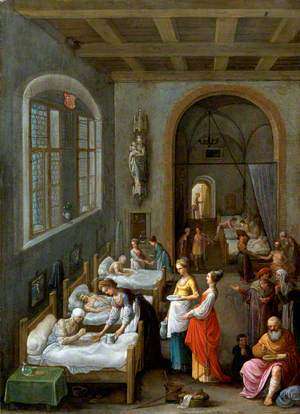 Saint Elizabeth of Hungary Bringing Food for the Inmates of a Hospital