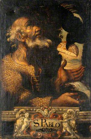 Saint Paul the Hermit Being Fed by a Raven