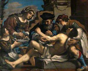 Saint Sebastian Being Succoured by a Surgeon and Others