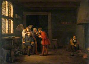 The Angel Raphael Curing the Blindness of Tobit