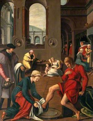 Saint Elizabeth of Hungary Washing the Feet of Inmates of a Hospital