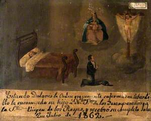 Dolores la Orden, Sick with a Burning Fever, Is Commended by Her Son to Christ and the Virgin, July 1862