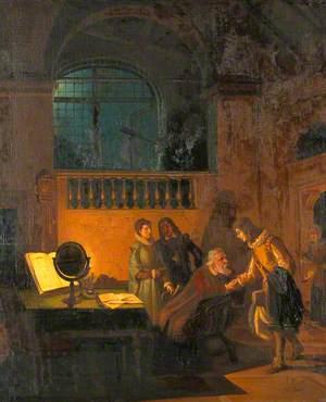Galileo Galilei Receiving John Milton