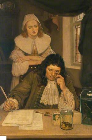 Leeuwenhoek with His Microscope