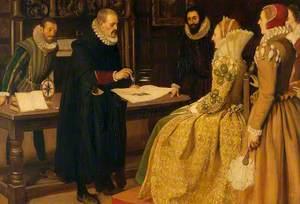 William Gilbert Demonstrating the Magnet before Elizabeth I, 1598