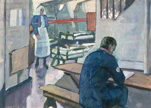 First World War: A Ward in a Hospital Ship