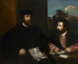 Georges d'Armagnac (c.1501–1585), Bishop of Rodez, with His Secretary Guillaume Philandrier (d.1565)