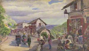 'The Bazaar Musoori, 8th May 1878'