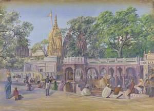 'The Golden Temple. Benares. India. Novr. 1878'