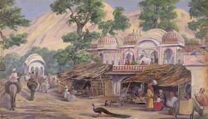 'Temple near Jeypore. India. Decr. 1878'