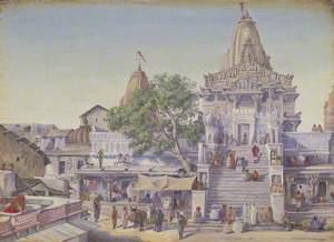 The Jagat Siromani Temple, Udaipur. 'Janr. 1879'
