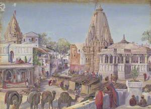 'Street in Oodipore. India'