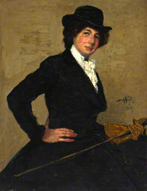 Mrs Ethel Solomon in Riding Habit