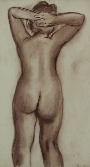 Female Nude, Back View