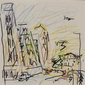 Study for 'Mornington Crescent, Summer Morning II'