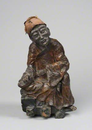 Lacquered Figure of a Daoist Sage
