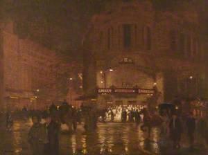 London, Wet Evening, Gaiety Theatre