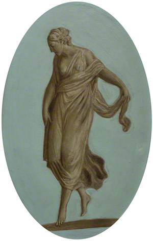 Bacchantes Holding a Robe out at the Back