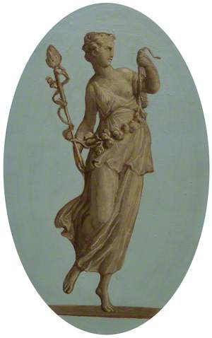 Bacchantes Holding a Staff and Garland