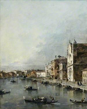 Venice, the Church of Santa Lucia on the Grand Canal