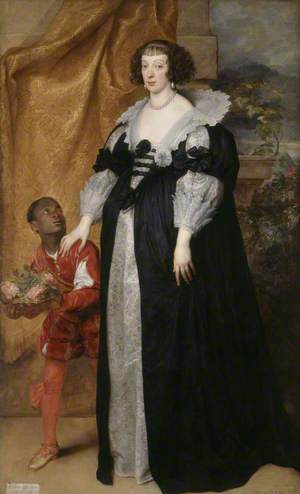 Princess Henrietta of Lorraine (1611–1660), Attended by a Page