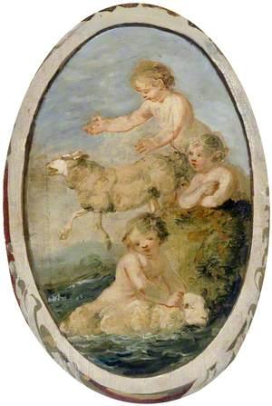 Putti Washing Sheep